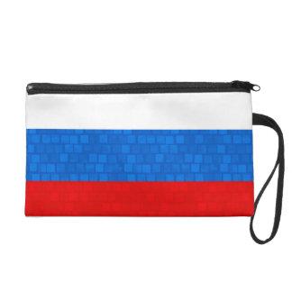 Modern Pattern Russian Flag Wristlet Purses