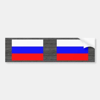 Modern Pattern Russian Flag Bumper Sticker