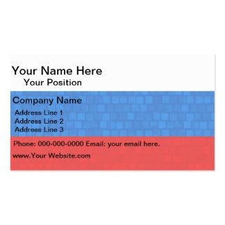 Modern Pattern Russian Flag Business Card