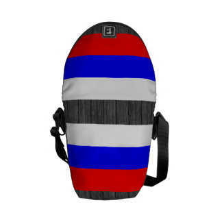 Modern Pattern Russian Flag Courier Bags