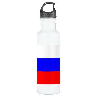 Modern Pattern Russian Flag Stainless Steel Water Bottle