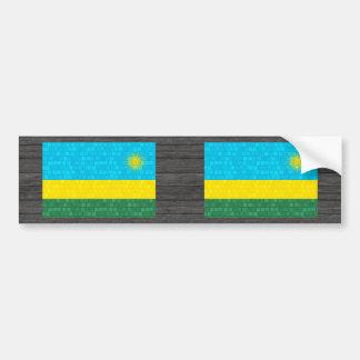 Modern Pattern Rwandan Flag Car Bumper Sticker