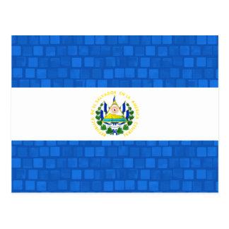 Modern Pattern Salvadoran Flag Postcard