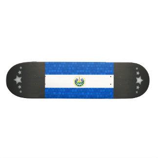 Modern Pattern Salvadoran Flag Skate Deck