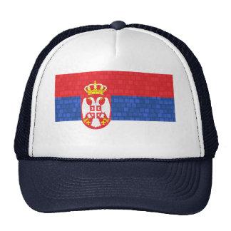 Modern Pattern Serbian Flag Trucker Hat