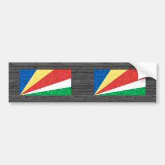 Modern Pattern Seychellois Flag Bumper Stickers
