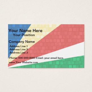 Modern Pattern Seychellois Flag Business Card