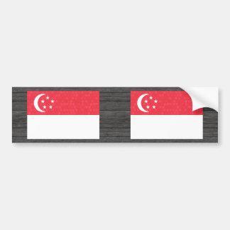 Modern Pattern Singaporean Flag Bumper Stickers