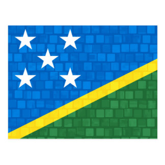 Modern Pattern Solomon Islander Flag Postcard