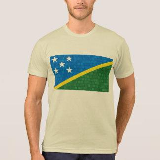 Modern Pattern Solomon Islander Flag T-Shirt