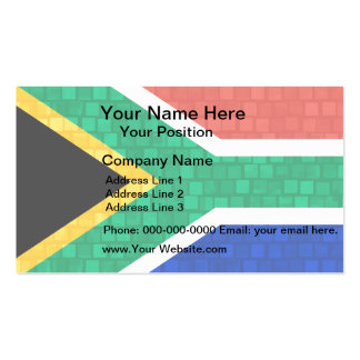 Modern Pattern South African Flag Business Card