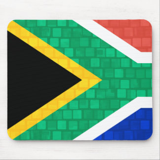 Modern Pattern South African Flag Mouse Pad