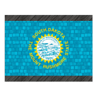 Modern Pattern South Dakotan Flag Postcard
