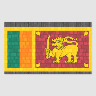 Modern Pattern Sri Lankan Flag Rectangular Sticker