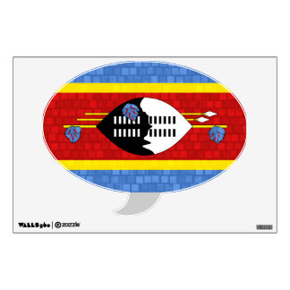 Modern Pattern Swazi Flag Wall Decal