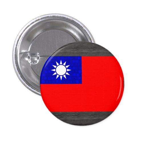 Modern Pattern Taiwanese Flag Pins