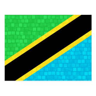 Modern Pattern Tanzanian Flag Postcard