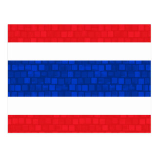 Modern Pattern Thai Flag Postcard