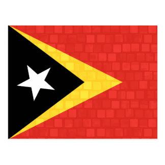 Modern Pattern Timorese Flag Postcard