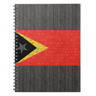 Modern Pattern Timorese Flag Spiral Notebook