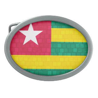 Modern Pattern Togolese Flag Belt Buckle