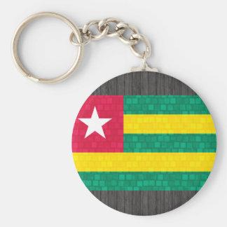 Modern Pattern Togolese Flag Keychains