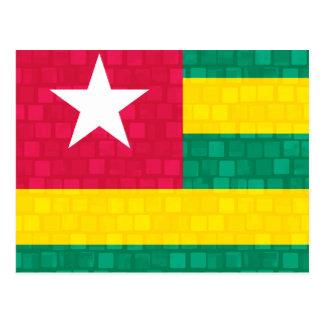 Modern Pattern Togolese Flag Postcard