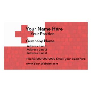 Modern Pattern Tongan Flag Business Card Templates