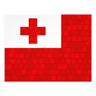 Modern Pattern Tongan Flag Personalized Flyer