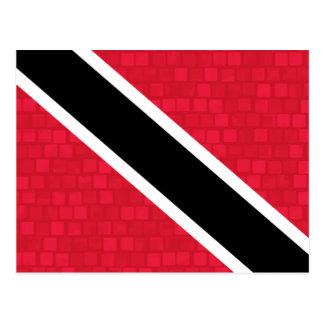 Modern Pattern Trinidadian Flag Postcard