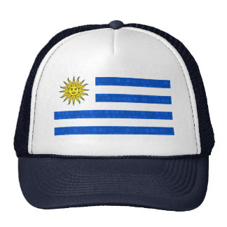 Modern Pattern Uruguayan Flag Trucker Hats