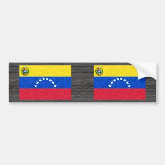 Modern Pattern Venezuelan Flag Bumper Stickers