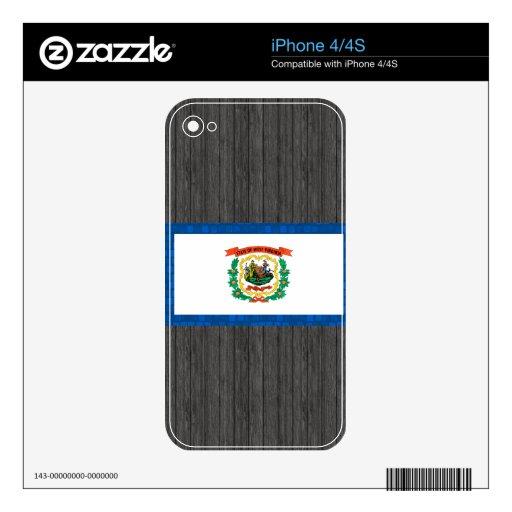 Modern Pattern West Virginian Flag Skin For iPhone 4S