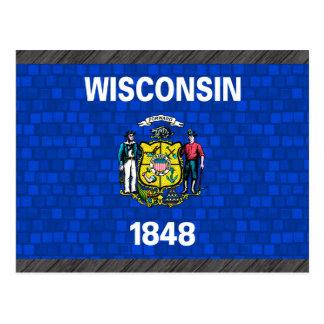Modern Pattern Wisconsinite Flag Postcard