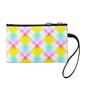 Modern Pattern with Bright Colors and Pastels. Coin Wallet