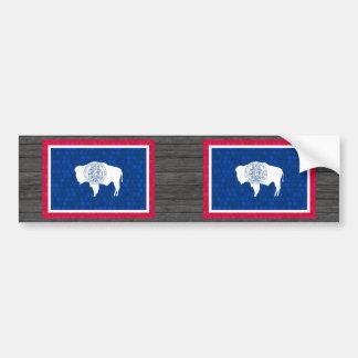 Modern Pattern Wyomingite Flag Bumper Stickers