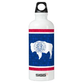Modern Pattern Wyomingite Flag Water Bottle