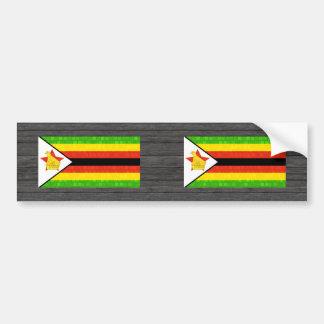 Modern Pattern Zimbabwean Flag Bumper Sticker