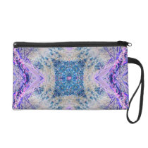 Modern patterned lilac blue fantasy bag
