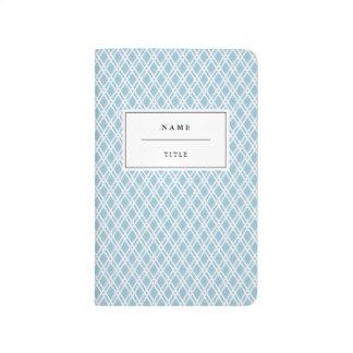 Modern, Patterned Pocket Journal - Light Blue