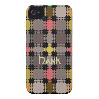 Modern Patterns iPhone 4 case with Name
