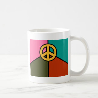 Modern Peace Sign Design, Solid Colors Coffee Mug