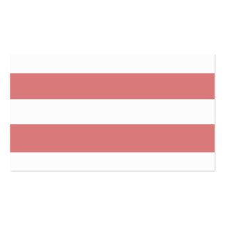 Modern Peach White Stripes Pattern Business Cards