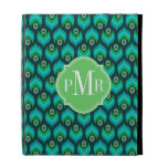 Modern Peacock Feather Pattern iPad Folio Cover