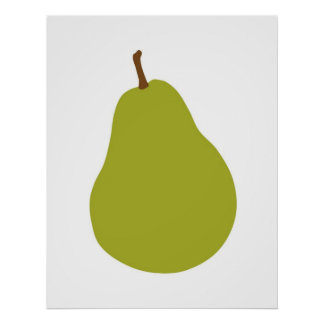 Modern Pear print for your kitchen or home