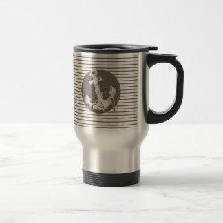 modern pencil stripes anchor nautical mug