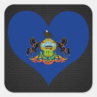 Modern Pennsylvanian flag Square Sticker
