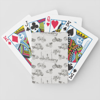 Modern People Mover Pattern Bicycle Playing Cards