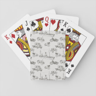 Modern People Mover Pattern Playing Cards