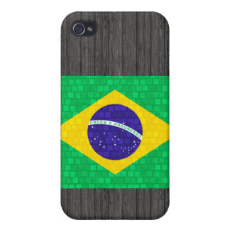 Modern Pern Brazilian Flag Case For iPhone 4